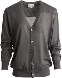 Hermès - Pre-owned Vintage Grey Cashmere Knitwear & Sweatshirts - Lyst