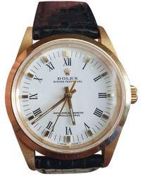 Rolex Oyster Perpetual 34mm Gelbgold Uhren - Mehrfarbig