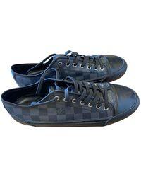 Louis Vuitton Cloth Low Trainers - Black