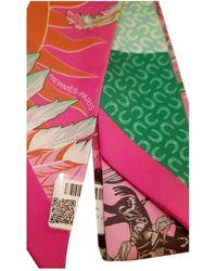 Hermès Foulards Twilly en Soie Multicolore