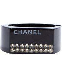 Chanel Bracelets en Plastique Noir