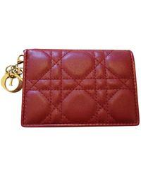 Dior Leder Portemonnaies - Rot