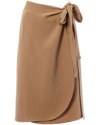 Céline \n Beige Silk Skirt - Natural