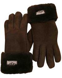 UGG Shearling Gloves - Brown