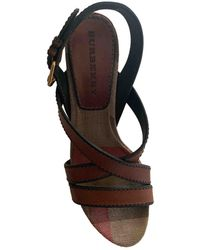 Burberry Leather Sandals - Brown