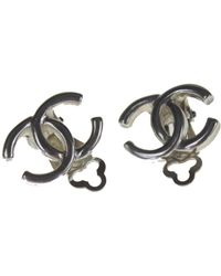 Chanel - Pre-owned Vintage Silver Metal Earrings - Lyst