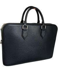Louis Vuitton Borsa in pelle blu Porte Documents Jour