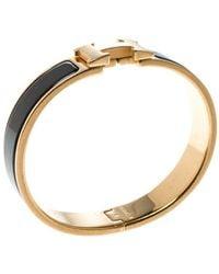 Hermès Clic H Multicolour Metal Bracelet - Metallic
