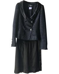 Chanel Vest en Tweed Noir