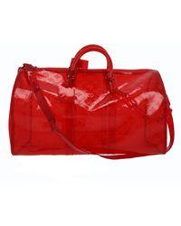 Louis Vuitton Sac Keepall Prism en Plastique Rouge