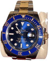 Rolex Submariner Gelbgold Uhren - Blau