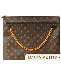 Louis Vuitton Bolsos en lona marrón Pochette A4