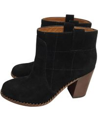 Marc By Marc Jacobs - Pre-owned Black Suede Ankle Boots - Lyst
