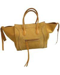 Céline Luggage Phantom Leder Handtaschen - Gelb