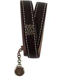 Lancel Brown Leather Bracelets