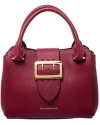 Burberry Leder Handtaschen - Rot