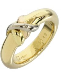 Cartier - Pre-owned Vintage Trinity Other Yellow Gold Rings - Lyst