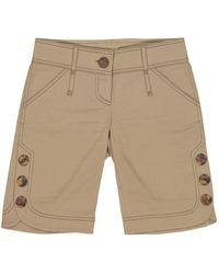 Valentino Shorts in cotone kaki - Neutro