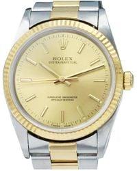 Rolex Oyster Perpetual 34mm Uhren - Mettallic
