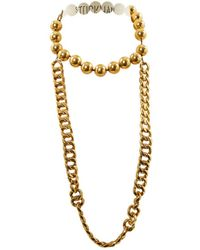 Chanel - Gold Metal Necklace - Lyst