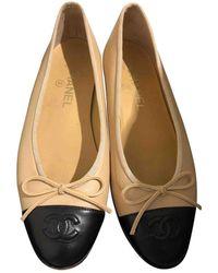 Chanel Ballerine in pelle beige - Neutro