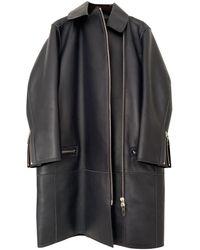 Louis Vuitton Leather Coat - Blue