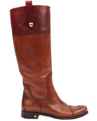 Louis Vuitton \n Brown Leather Boots