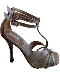 Marc Jacobs Leather Sandal - Multicolour