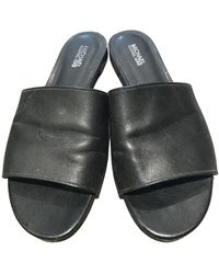 Michael Kors Leather Mules - Black
