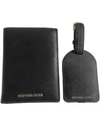 Michael Kors Black Leather Purses Wallets & Cases