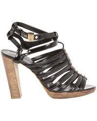 Hermès Black Patent Leather Sandals