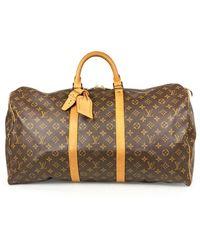 Louis Vuitton Keepall Brown Cloth Bag