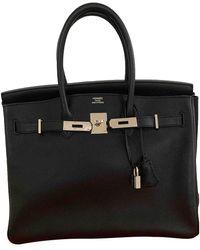 Hermès Birkin 35 Leder Handtaschen - Schwarz