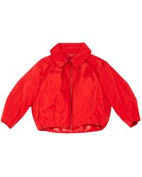 Moncler - Red Polyester Jacket - Lyst