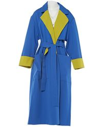ROKSANDA - Blue Wool Coat - Lyst