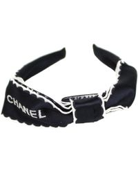Chanel Faux Fur Hair Accessory - Black