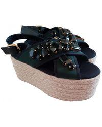 Marni Cloth Sandals - Green