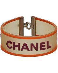 Chanel - Orange Plastic Bracelet - Lyst