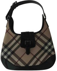 Burberry Cloth Handbag - Black