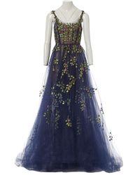 Oscar de la Renta Maxi Dress - Blue