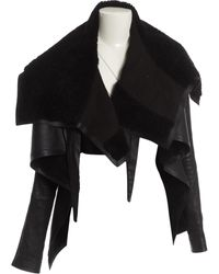 Rick Owens Giacche in LOWER()Pelle LOWER()Nero