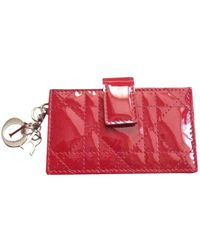 Dior Red Patent Leather Purses Wallet & Case