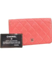 Chanel Red Leather