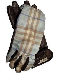 Burberry Leder Handschuhe - Mehrfarbig