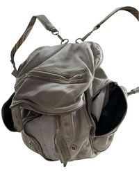 Alexander Wang Marti Leather Backpack - Grey