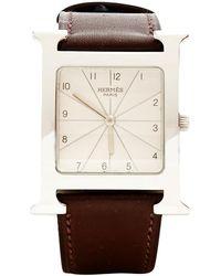 Hermès - Pre-owned Heure H Mm Watch - Lyst