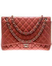 Chanel Timeless/classique Leder Handtaschen - Rot