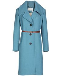 Chloé Wool Coat - Blue