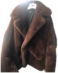 The Kooples Faux Fur Coat - Brown