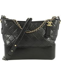 Chanel Gabrielle Black Leather Handbag